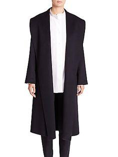 PAUW Open-Front Cashmere Coat