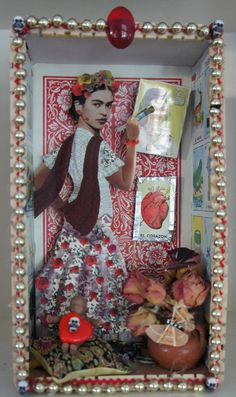 I got into Mexican folk art while living in California and visiting Mexico. Frida Kahlo Diego Rivera, Frida And Diego, Mexican Artists, Mexican Folk Art, Fridah Kahlo, Fairy Box, Mexican Home Decor, Little Shop Of Horrors, Day Of The Dead Skull
