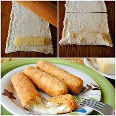 bastoncini di formaggio in carrozza
