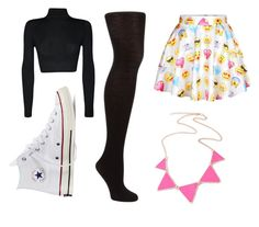 """Emoji"" by katerinafashionista ❤ liked on Polyvore featuring WearAll, John Lewis and Converse"
