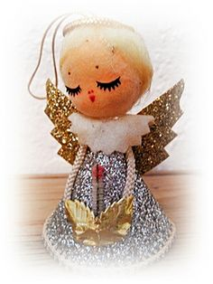 Vintage Angel 1950s Japan. What a cute one to make into your own diy ornament!