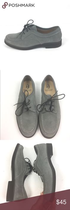Hush Puppies Suede Leather Lace Up Loafer 5.5 Hush Puppies suede leather lace up loafers. Size 5.5 in excellent preowned condition. A01060 Hush Puppies Shoes Flats & Loafers