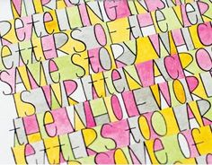 jenny doh art   From the book, Creative Lettering by Jenny Doh - A ...   Art Stuff