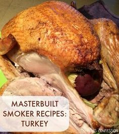 Perfectly Smoked Turkey + Meal Planning Tips for Thanksgiving - Looking for Masterbuilt smoker recipes? You're in the right place! This Masterbuilt smoked turkey - Masterbuilt Smoked Turkey, Masterbuilt Recipes, Masterbuilt Smoker, Smoked Meat Recipes, Turkey Recipes, Grilling Recipes, Pork Recipes, Oven Recipes, Easy Recipes
