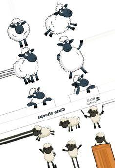 Милые рисованные овцы, овечки, барашки - векторный клипарт. Cute sheeps