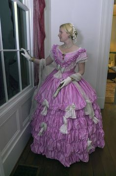 The Countess. Ballgown of pink silk. Designed by Joy Melcher. Warn and owned by Heather Kenney.