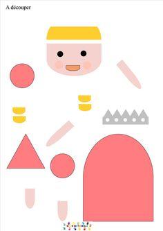jeu-de-la-tres-grande-princesse-reconstituer-les-personnages4 Grand Prince, Petite Section, Crafts For Kids, Arts And Crafts, Prince And Princess, School Life, Land Art, King Queen, Medieval