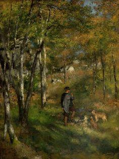 Pierre-Auguste Renoir. O Pintor Le Coeur Caçando na Floresta de Fontainebleau, 1866.