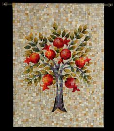 MosaicRimon - Embroidered art by Efod. Visit the studio and gallery in Hutzot Hayotzer, Jerusalem.