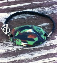 Braided Hemp Camouflage Army Country Tag by ShemshoDesigns on Etsy