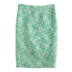 J.Crew No. 2 pencil skirt in clover tweed