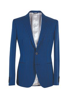 Tonello man SS15. Striped blue jacket.