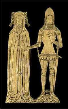brass rubbings - the earliest rubbing I did was of this couple! I loved this pastime with my family.