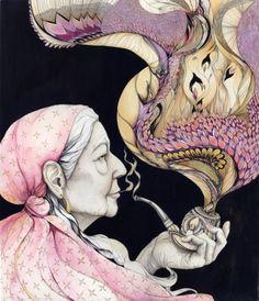 Babushka and pipe.