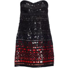 Roberto Cavalli Short Dress ($375) ❤ liked on Polyvore featuring dresses, black, sequin cocktail dresses, sequin mini dress, short sequin dress, beaded mini dress and short beaded cocktail dresses