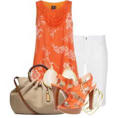 Spring Orange Outfit
