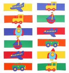 Primary Transportation Themed Party Napkin by ScrapsToRemember, $15.00