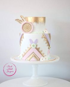 Been a little MIA lately, due to Ramadan and Eid celebrations. Loved spending time with my kids on the weekend also loved not having sugar… Bohemian Birthday Party, Wild One Birthday Party, Birthday Cake Girls, First Birthday Cakes, Baby Birthday, Birthday Parties, Birthday Ideas, Bohemian Cake, Bohemian Party