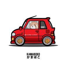 kamabokoofficialSneak peak to our sticker lineup. Vroom vroom!  #overalls #fashion #japan #stickers #jdm #watanabe #daruma #redpanda #red #olive #mechanic #kamaboko #ninjamuffeen #zpinktuna #ambition #drawings #vectordrawing #vector #brilliantdesign #art #illustration #cute #animals #animal #panda #graphicdesign #car #ride #kei #keicar