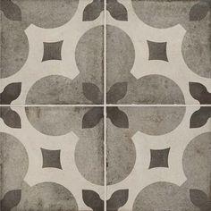 """Daltile Quartetto - Cool Piccolo Fiore 8"""" x 8"""" Porcelain Tile"""
