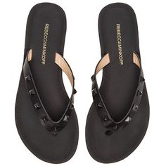 Rebecca Minkoff Fiona Flip Flop Shoes ($68) ❤ liked on Polyvore