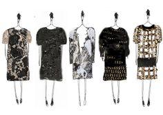 Fashion Sketchbook - creative fashion drawings; collection line up // Shengwei Wang, student fashion design portfolio