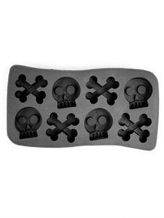 Skull and Crossbones Ice Tray (Black)