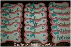 Paw patrol dog bone sugar cookies
