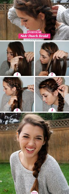 Put a fresh twist on a basic French braid with this cool reverse style. Even if you're not good at braiding your own hair, you'll totally be able to master this easy how to.