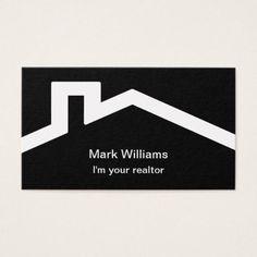 Simple Modern Realtor Design Business Card - realtor real estate agent business diy personalize