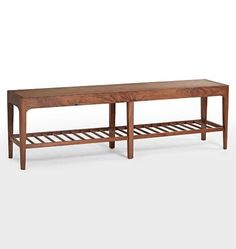 "S&D bedrm /Lr back of sofa 60"" walnut. $999.Perkins Spindle Bench Walnut D0876"
