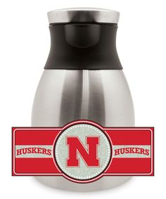 Nebraska Cornhuskers Stainless Steel Coffee Pot