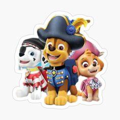 'Paw Patrol fun' Sticker by StefaniaAlina Paw Patrol Stickers, Nickelodeon, Transparent Stickers, Glossier Stickers, Smurfs, My Arts, Art Prints, Dogs, Flasks