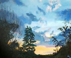 Acrylic on canvas, Sunset on Second , Tim Bedel