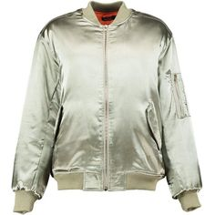 Boohoo Boutique Evie Satin Bomber Jacket | Boohoo (€26) ❤ liked on Polyvore featuring outerwear, jackets, satin bomber jacket, longline bomber jacket, puffa jackets, flight bomber jacket and wrap jacket
