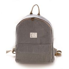 Cool! College Fresh Pinstripe Polka Dot Pattern School Backpack Canvas Rucksack just $33.99 from ByGoods.com! I can't wait to get it!