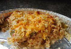 Fajita Chicken and Rice Bake-great make ahead meal