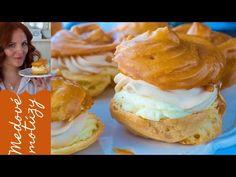 Najlepšie karamelové veterníky / Medové motúzy / Jana Štrbková - YouTube Creme Caramel, What To Cook, Lidl, Hamburger, Muffin, Pizza, Cooking, Breakfast, Cake