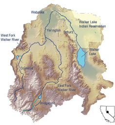Map of the Walker River Basin