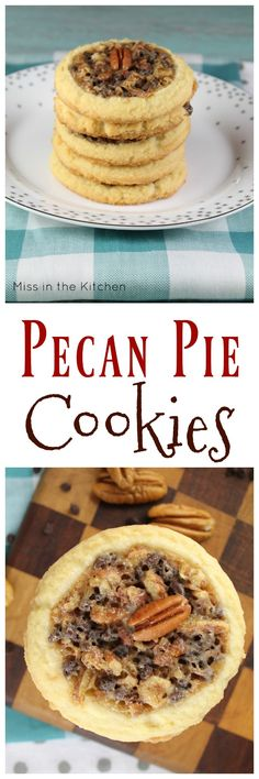 Pecan Pie Cookies Recipe for Bob's Red Mill #50StatesofCookies Perfect for holiday baking and sharing! #ad found at MissintheKitchen.com