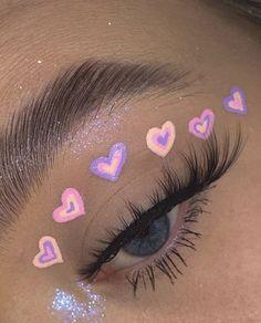 Cute Makeup Looks, Makeup Eye Looks, Eye Makeup Art, Colorful Eye Makeup, Pretty Makeup, Skin Makeup, Eyeshadow Makeup, Beauty Makeup, Eyeliner