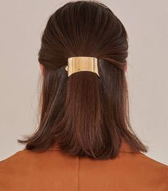 9 Stunning Gold Hair Accessories That Will Change Your Mind About Barrettes via @ByrdieBeauty