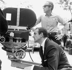 Sean Connery on the set of Goldfinger (1964), directed by Guy Hamilton.