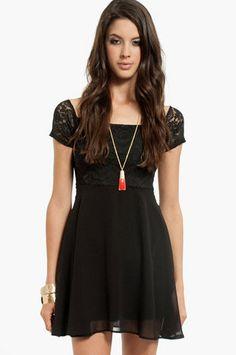 Vanessa Off Shoulder Dress $35 at www.tobi.com