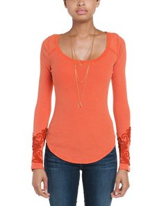 Spotted this Free People Masquerade Cuff Paprika Thermal Top on Rue La La. Shop (quickly!).