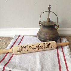 Rolling Pin Wood Burn  Custom Home Sweet Home by RMichaelCreations
