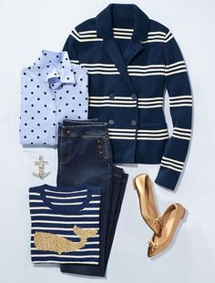 The Classic Casual Shirt-Playful Dots - Talbots Spring Summer Fashion, Spring Outfits, Autumn Fashion, Casual Mode, Casual Chic, Mode Outfits, Fashion Outfits, Womens Fashion, Latest Fashion