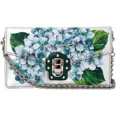 Dolce & Gabbana  Metallic Hand Painted Bag (12.440 DKK) ❤ liked on Polyvore featuring bags, handbags, purses, clutches, faux purses, metallic purse, dolce gabbana handbags, blue hand bag and blue bag