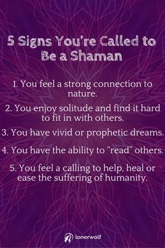 Are you destined to become a Shaman or medicine healer?