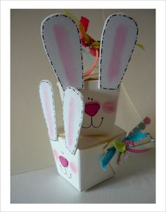 Super Simple Bunny Box--Fill it with Easter Treats.  Get all the directions here!